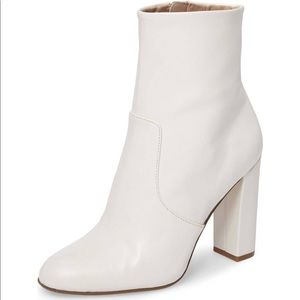Shoes - White High Heel Booties